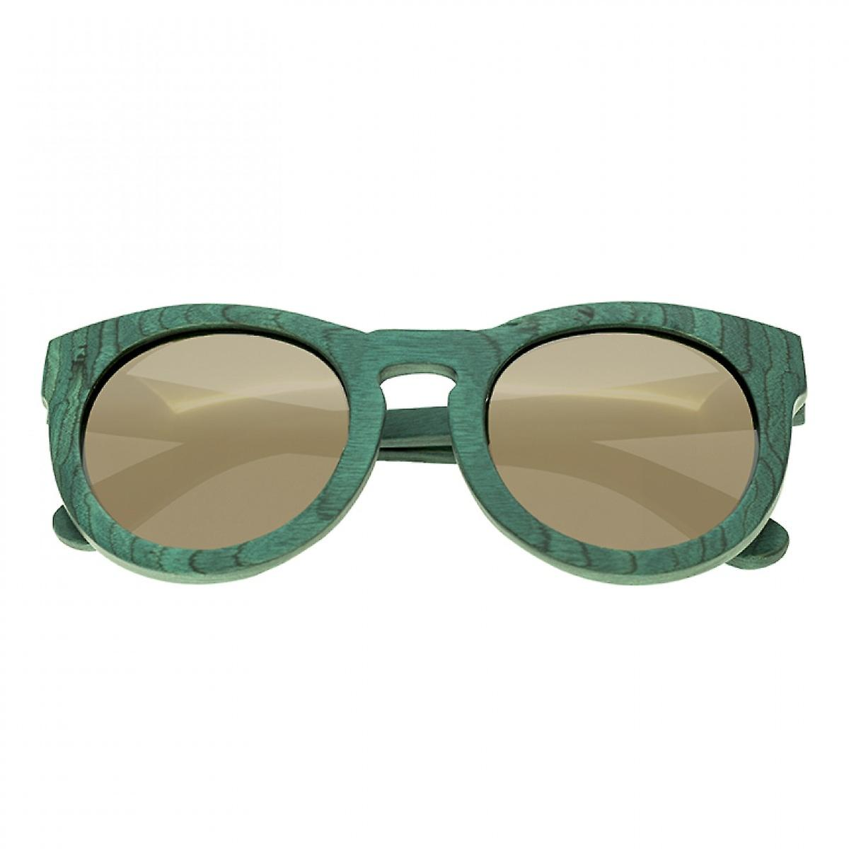Spectrum Malloy Wood Polarized Sunglasses - Teal/Gold