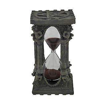 Gargoyles and Pentagrams Gray Stone Finish Hourglass Sand Timer