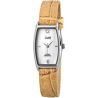 Just Watches 48-S10420-WH-LBR-wristwatch, leather, color: Brown