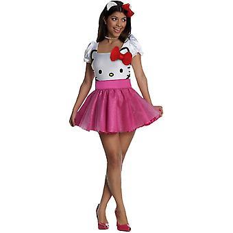 Hello Kitty voksen drakt