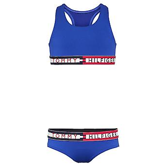 Tommy Hilfiger Girls Swim Bikini Set, Surf The Web, Large