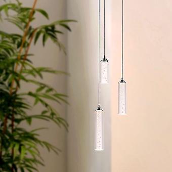 Modern Vintage Meteor 3 ljus hängande ljuskrona taklampa Nickel rund huv