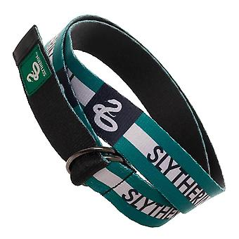 Harry Potter Slytherin Webbed D-Ring Belt