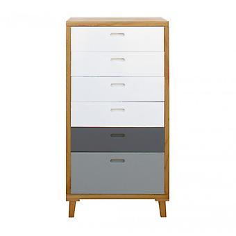 Meubles Rebecca Cassetti 6 Boîtes Blanc Blanc Moderne Gris 119x60x45