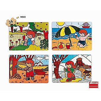 Akros Set Zaro und The 4 Seasons Puzzle 4-Piece Toy