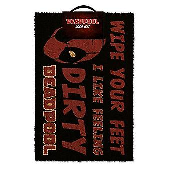 Marvel Official Deadpool Dirty Feeling Wipe Your Feet Door Mat