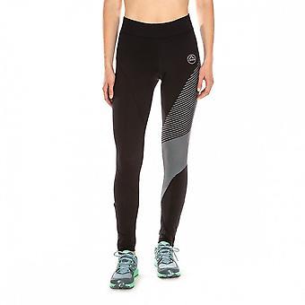 La Sportiva Supersonic Womens Trail de invierno Running mallas negras/pizarra