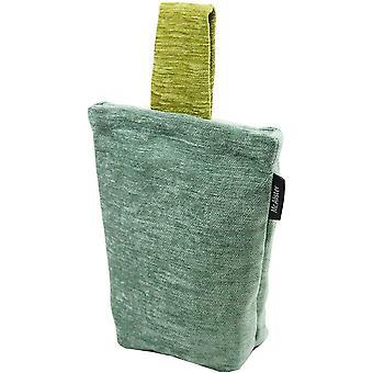 Mcalister textiles alston oeuf de canard chenille - arrêt de porte verte