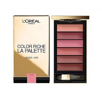 L'Oreal kleur Riche la palet lip palet-naakt