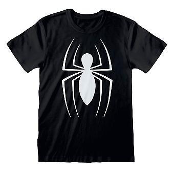 T-shirt noir Spider-Man Classic Logo Homme Homme