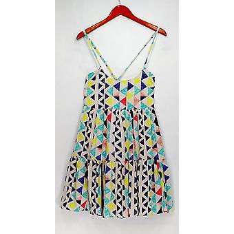 W118 by Walter Baker Dress Printed Spaghetti Strap White / Blue