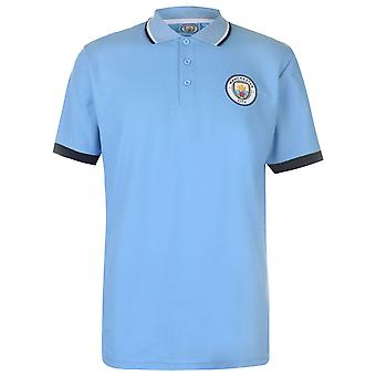 Source Lab Mens Manchester City Polo Shirt Short Sleeve Top T-Shirt