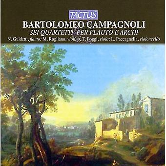 B. Campagnoli - Bartolomeo Campagnoli: Sei Quartetti Per Flauto E Archi [CD] USA import