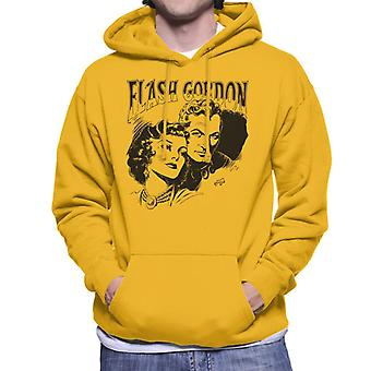 Flash Gordon Couple Portrait Men's Hooded Sweatshirt