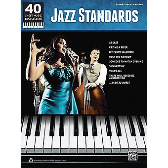 40 Sheet Music Bestsellers -- Jazz Standards - Piano/Vocal/Guitar by A