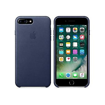 Originele verpakking Apple lederen cover voor iPhone 7/8 + plus in Midnight Blue