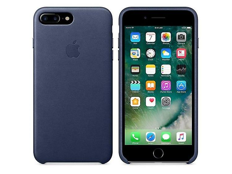 Original Packaging Apple Genuine Leather Cover for iPhone 7/8+ Plus in Midnight Blue