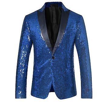 Allthemen Men ' s Sequins Blazer Dance Stage teljesítmény öltöny Jacket