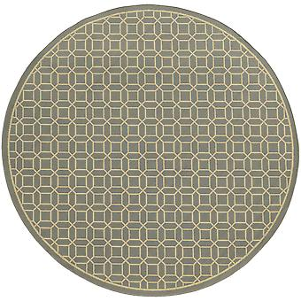 Riviera 4771m grey/ivory indoor/outdoor rug round 7'10