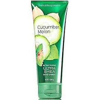 Bath & Body Works Cucumber Melon Ultra Shea Body Cream 8 oz / 236 ml (Pack of 2)