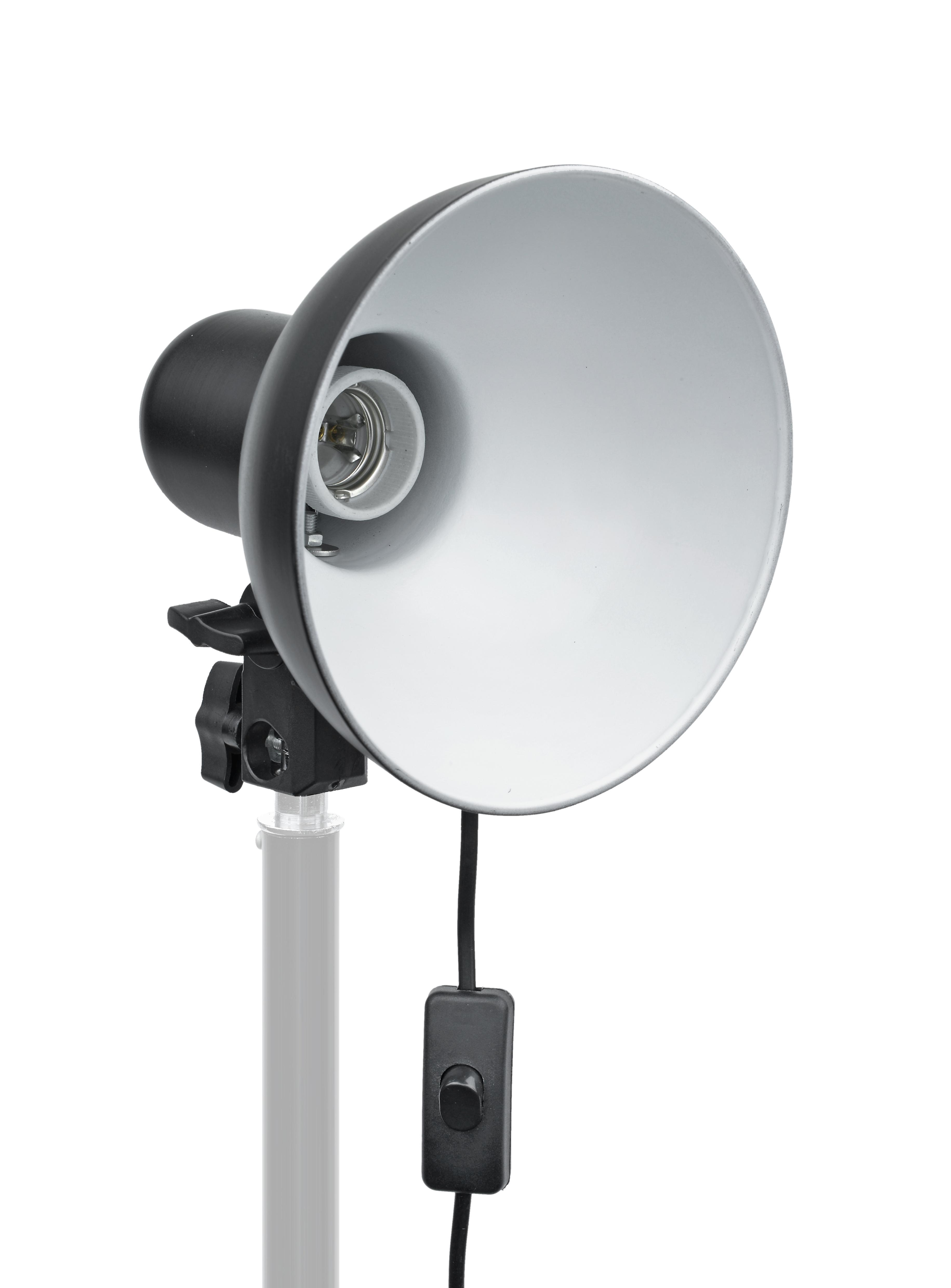 BRESSER MM-04 Lampenhalter mit Reflektor für 1 Lampe
