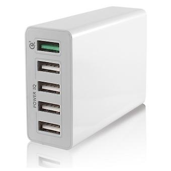 Chargeur Voiture Mur 5 USB 10a Blanc