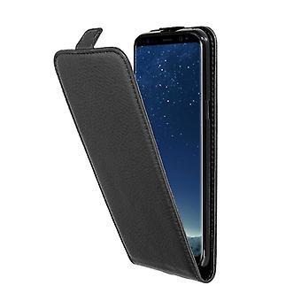 Cadorabo Hülle für Samsung Galaxy S8 PLUS Case Cover - Handyhülle im Flip Design aus strukturiertem Kunstleder - Case Cover Schutzhülle Etui Tasche Book Klapp Style