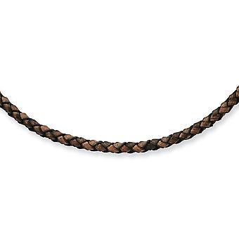 4mm Leder gepolijste magnetische sluiting Hexagon Weave Ketting Sieraden Geschenken voor vrouwen - Lengte: 18 tot 20