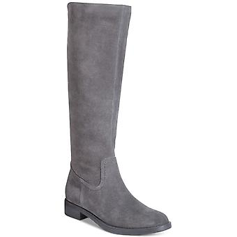 Aqua College Womens Elsa Leather Almond Toe Mid-Calf Fashion Boots