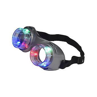 Alien bril, verlicht, Grey Fancy Dress accessoire