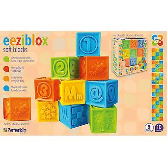 Eeziblox Play & Learn Soft Stacking Blocks