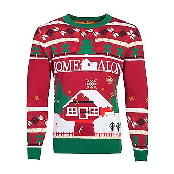 Home Alone Christmas Jumper Knitted Kevin! Logo new Official Unisex