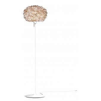 Umage Eos Floor Lamp - Light Brown Feather Eos Medium/White Stand