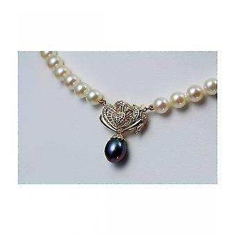 Luna-parels Akoya Pearl Collier kraal bewerkingen ketting 28 diamanten HKS65