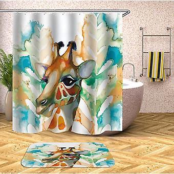 Art Painting Giraffe Shower Curtain