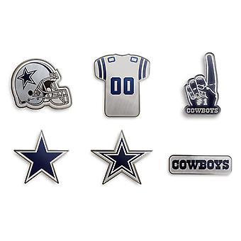 Dallas Cowboys NFL Pin Badge Lapel Pin Set of 6