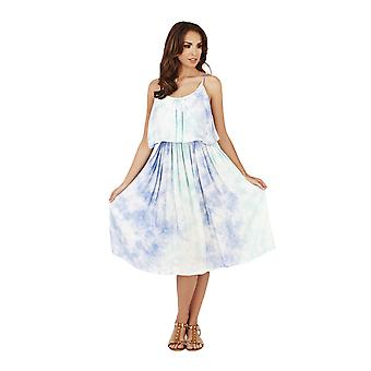Pistachio Women's Tie Dye Strappy Knee Length Summer Dress