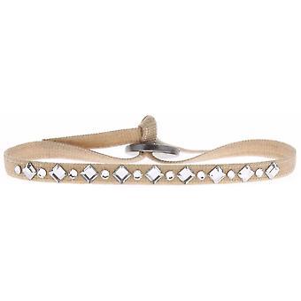Bracciale intercambiabile A34639 - cristalli di tessuto Beige donna Swarovski bracciale