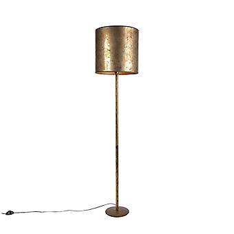 QAZQA Vintage lattiavalaisin kultaa 40cm vuotiaiden pronssi kulta - Simplo