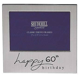 Shudehill Giftware Happy 60th Birthday 5 X 3.5 Photo Frame