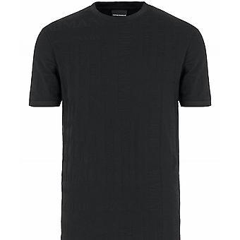 Armani Crew Neck Jacquard Logo T-Shirt