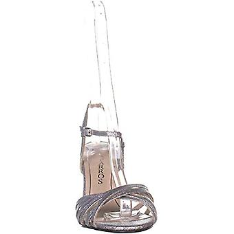 Caparros Quayliah Kitten Heel Evening Sandals, Silver Flame, 8.5 US