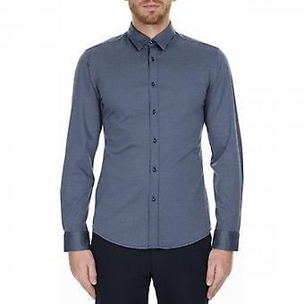 Boss Orange Hugo Boss Benjamin_S Long Sleeve Jersey Shirt Navy 50415397