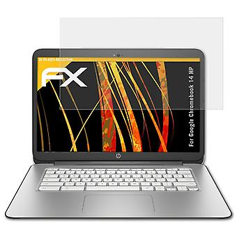 atFoliX Glass Protector compatible with Google Chromebook 14 HP 9H Hybrid-Glass