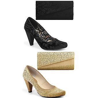 רובי קישטה נשים ' ליאה בית המשפט נעליים משאבות & התאמת תיק דרווין