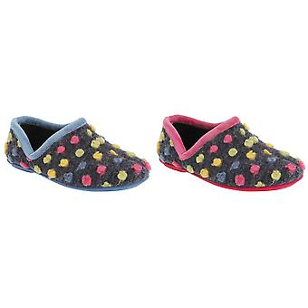 Sleepers Womens/Ladies Jade Dotted Full Slippers