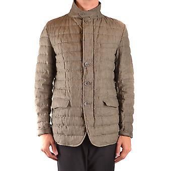 Herno Ezbc034059 Men's Beige Nylon Outerwear Jacket