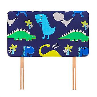 Klar Steady Bed Dino i Dark Design Children's Enkelt hovedgærde 3ft Bed Size Skum Betrukket