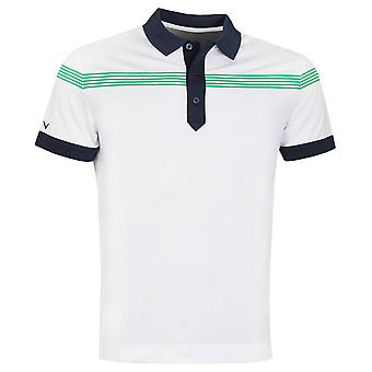 Callaway Golf Mens Linear Print Moisture Wicking  Golf Polo Shirt