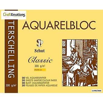 Schut Terschelling Watercoloured pad Classic 30x40cm 300 gram - 20 sheets